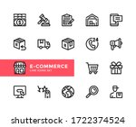 e commerce vector line icons.... | Shutterstock .eps vector #1722374524