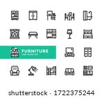 furniture vector line icons.... | Shutterstock .eps vector #1722375244