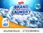deep clean laundry detergent... | Shutterstock .eps vector #1722384841