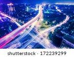night scene of shanghai  china  ... | Shutterstock . vector #172239299