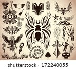 variety of tattoo   tribal... | Shutterstock .eps vector #172240055