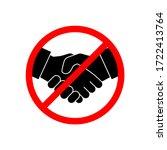 no handshake icon vector... | Shutterstock .eps vector #1722413764