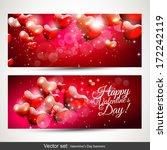 set of two horizontal valentine'... | Shutterstock .eps vector #172242119