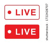 vector red and white live... | Shutterstock .eps vector #1722428707