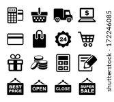 shopping icons set | Shutterstock .eps vector #172246085