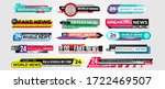 news bar. lower third news... | Shutterstock .eps vector #1722469507