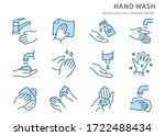 washing hands icons  such as... | Shutterstock .eps vector #1722488434