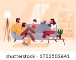 a friendly family reads books... | Shutterstock .eps vector #1722503641