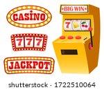 gambling set vector  casino and ... | Shutterstock .eps vector #1722510064