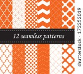 twelve seamless geometric... | Shutterstock .eps vector #172252019