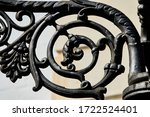 Small photo of A closeup shot of a black spiral bluster - perfect for background