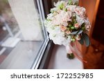 pink and white wedding bouquet  | Shutterstock . vector #172252985