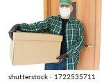 delivery food. volunteer.... | Shutterstock . vector #1722535711