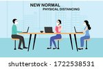 new normal concept and physical ... | Shutterstock .eps vector #1722538531