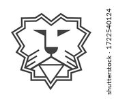 lion logo in line design style... | Shutterstock .eps vector #1722540124