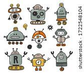 Robot Character Hand Drawn...