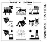 solar cell energy icon set...   Shutterstock .eps vector #1722548437