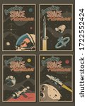 amazing space adventures retro... | Shutterstock .eps vector #1722552424