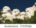 closeup view of mount rushmore... | Shutterstock . vector #17225566