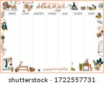 collection of weekly or daily... | Shutterstock .eps vector #1722557731