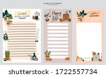 collection of weekly or daily... | Shutterstock .eps vector #1722557734