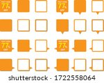 a simple set of square icons... | Shutterstock .eps vector #1722558064