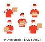 set portrait of happy man from... | Shutterstock .eps vector #1722564574
