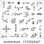 vector set of hand drawn arrows | Shutterstock .eps vector #1722565447