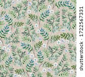 watercolor seamless pattern of... | Shutterstock . vector #1722567331