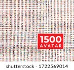 1500 avatar icon set persons ... | Shutterstock .eps vector #1722569014
