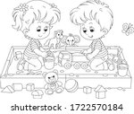 happy small children friendly... | Shutterstock .eps vector #1722570184