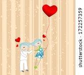 vector illustration of a cute ... | Shutterstock .eps vector #172257359