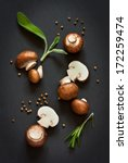 fresh mushrooms with spices and ... | Shutterstock . vector #172259474