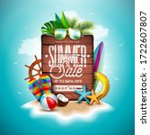 summer sale design with exotic... | Shutterstock .eps vector #1722607807