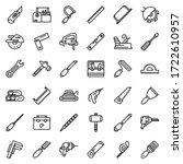 carpenter tools icons set....   Shutterstock .eps vector #1722610957