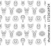 australian animals outline...   Shutterstock .eps vector #1722616924