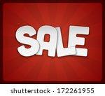 vintage sale vector background. ... | Shutterstock .eps vector #172261955
