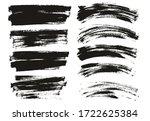 flat paint brush thin long  ... | Shutterstock .eps vector #1722625384