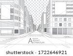 3d illustration architecture... | Shutterstock .eps vector #1722646921