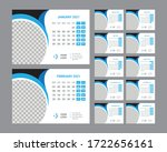 desk calendar 2021 template... | Shutterstock .eps vector #1722656161