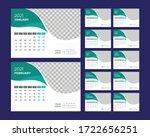 desk calendar 2021 template... | Shutterstock .eps vector #1722656251