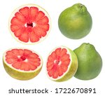 Collection Of Red Pomelo Citru...