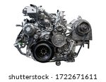 Diesel Engine Isolated On White ...