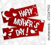 creative happy mother's day... | Shutterstock .eps vector #172267931