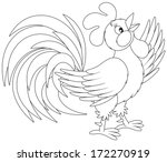 and,animal,art,background,bird,black,black-and-white,cartoon,cartooning,cartoony,chicken,clip,clip-art,clipart,cock