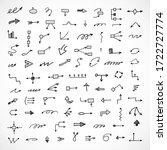 vector set of hand drawn arrows ... | Shutterstock .eps vector #1722727774