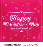 valentine's day card with... | Shutterstock . vector #172272797