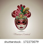 venetian carnival mask with...