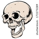 open mouthed skull | Shutterstock .eps vector #172273289