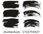 flat paint brush thin long  ... | Shutterstock .eps vector #1722753427